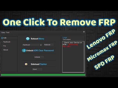 Easy Frp Tool Remove FRP SDP Lenovo Micromax 2018 New Tool
