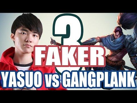 SKT T1 Faker - YASUO vs GANGPLANK - PreSeason 6 #3
