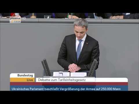 Bundestag: Debatte zum Tarifeinheitsgesetz mit Andrea Nahles am 05.03.2015