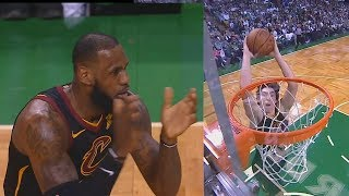LeBron James Claps for Cedi Osman After He Misses Wide Open Dunk!