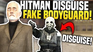 DISGUISING AS MAYOR'S BODYGUARD - Gmod DarkRP | Hitman Disguise Kit!