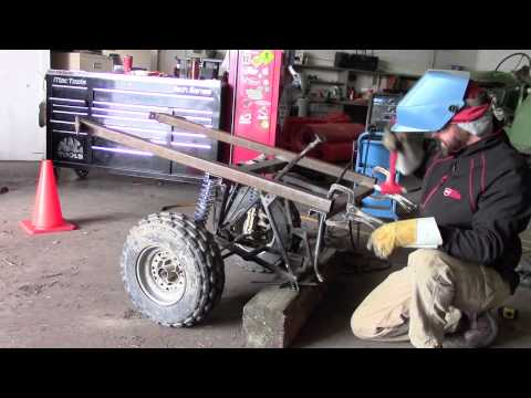 Homemade ATV trailer from an old quad - Part 2