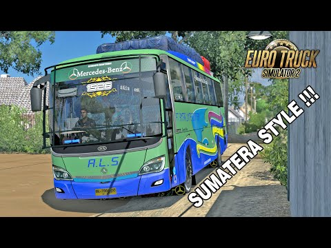 Bus Offroad ALS Jadoel Ngblong Di Jalur Alas Roban - ETS2 Mod Indonesia - 동영상