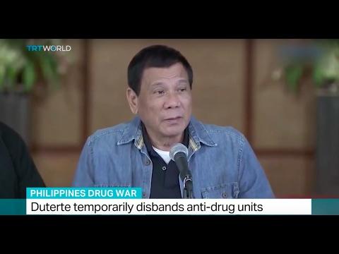 Philippines Drug War: Duterte temporarily disbands anti-drug units