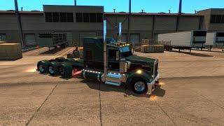 American Truck Simulator Kustom Heavy Spec Edition W900 w the BIG BOY HEAVY STEERS
