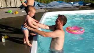 water baby pool jumping