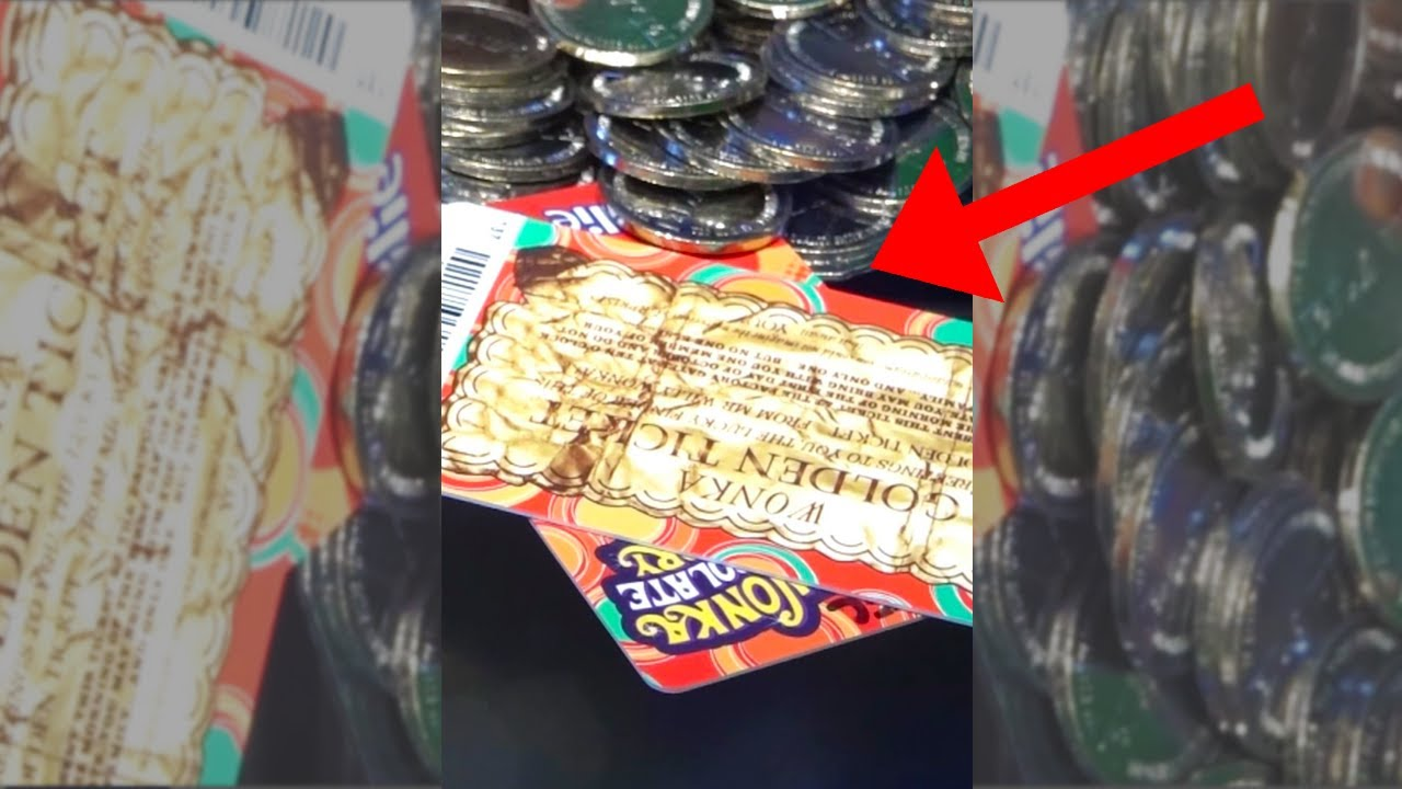 I won the golden ticket from the arcade!!