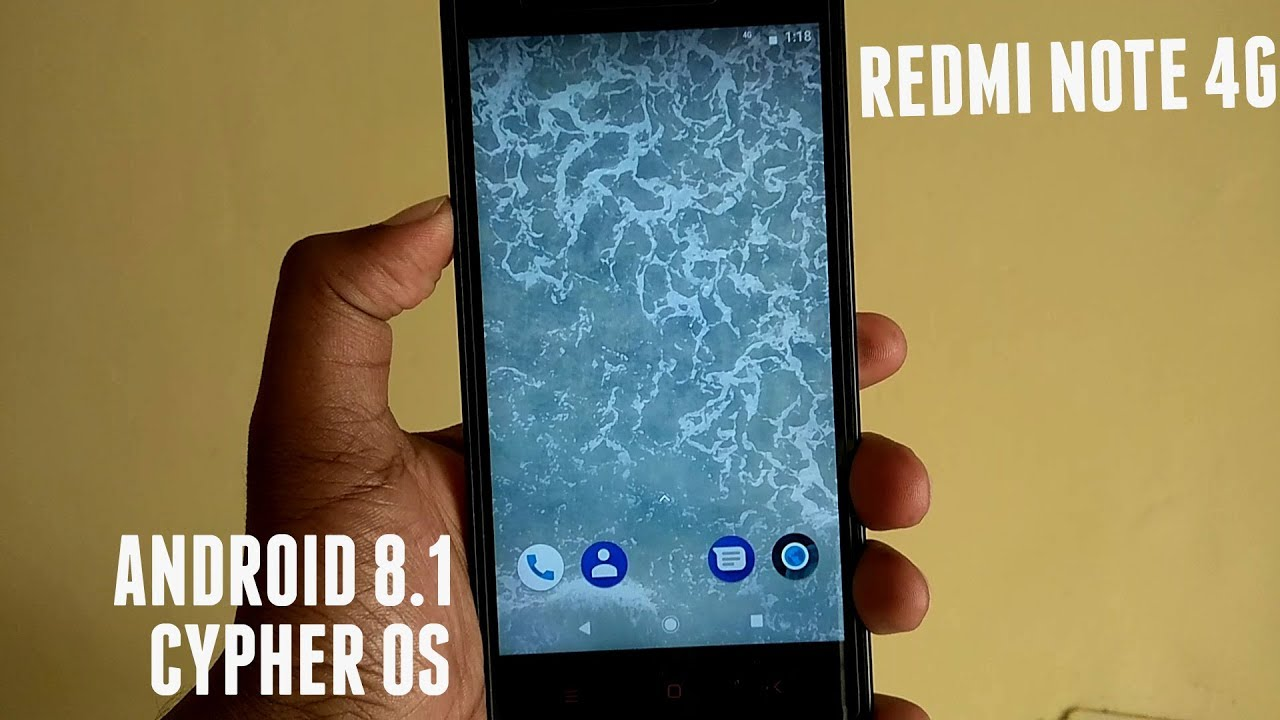 Android 8 1 Oreo Update Redmi Note 4G Dior   CypherOS Installation &  Features