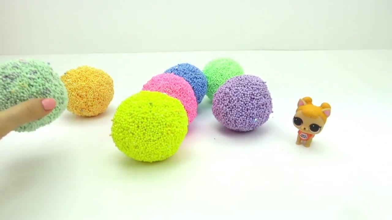 ЛОЛ сюрпризы и игрушки в шариковом пластилине