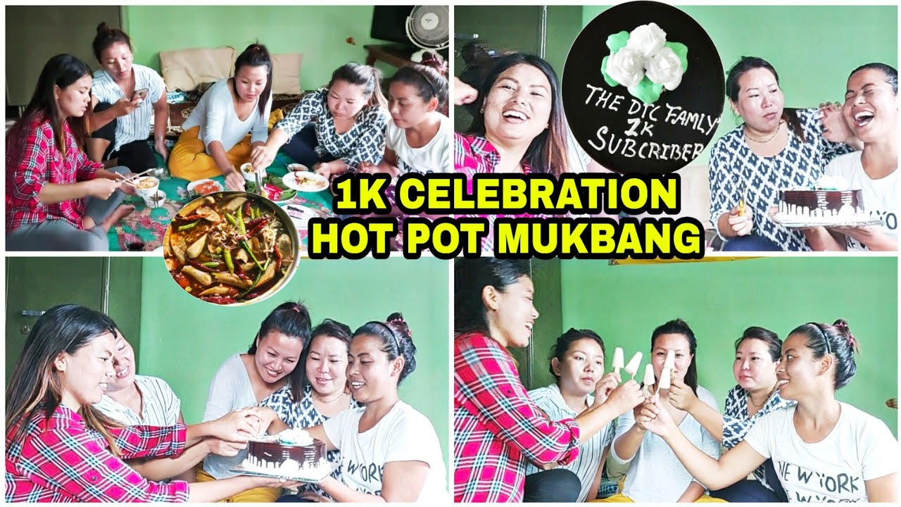 1K celebration + Hot Pot Mukbang
