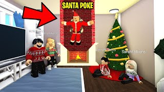 I Pretended To Be SANTA On Bloxburg To Surprise People.. They FREAKED Out! (Roblox)