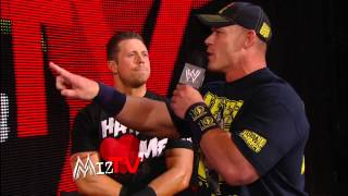 John Cena & The Miz vs. Team Rhodes Scholars: Raw, Dec. 31, 2012