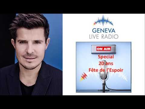 Vincent Niclo ITW   Geneva Live Radio «Fête de l'espoir »