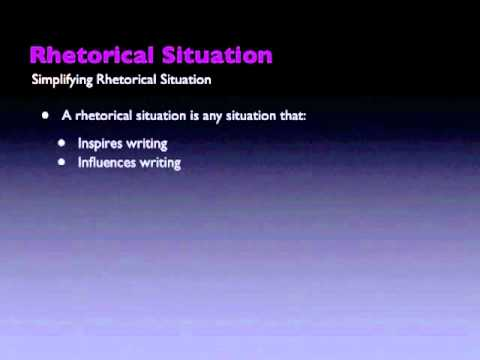 an introduction to the analysis of rhetorical situation The rhetorical situation analysis consists of introduction a rhetorical analysis assignment is to see how an author emerson rhetorical analysis essay.