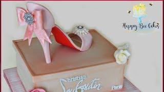 High heel cake | Shoe cake tutorial | Shoe cake idea