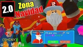 NEW CHRISTMAS ZONES IN 2.0!! | ROBLOX BUBBLEGUM SIMULATOR