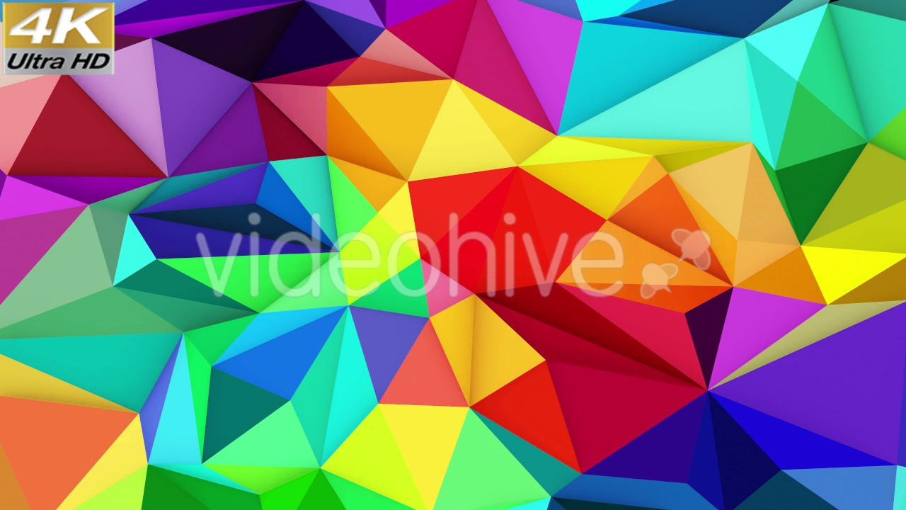 Samsung Colorful Wallpaper Low Poly Background Loop Animation