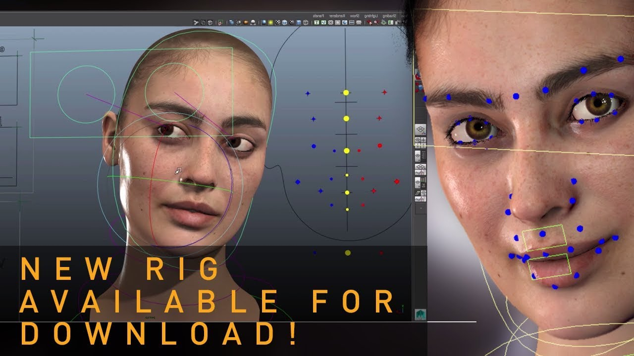 Free Facial Rig of Louise, a Digital Human by Eisko [NEW]