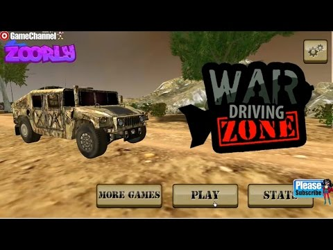 War Driving Zone Monster Truck Games Car Army Games