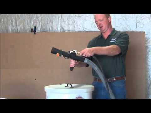 Pursell's Snow-Force Flock Machine - Pursell's Snow-Force Flock Machine - YouTube