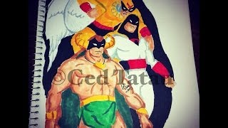 Copic Marker Speed Color Mightor Space Ghost Birdman with Commentary