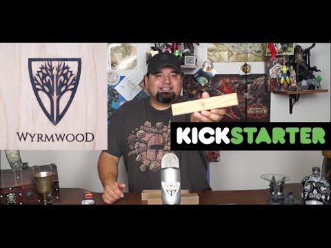Unboxing Wyrmwood Magnetic Dice Tower System Kickstarter backer reward