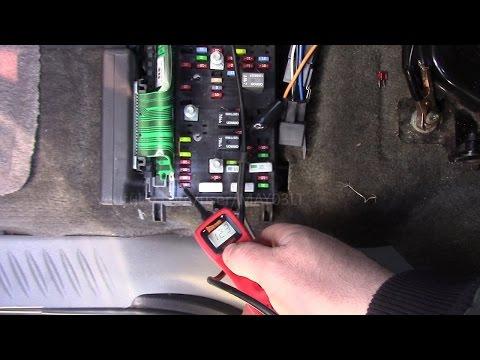 Trailblazer interior light fuse location (and testing the fuse)  YouTube