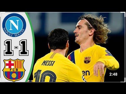Napoli Vs Barcelona 0-4 Highlights & Goals Uefa Champions League