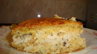 Пирог с рыбой.Рыбный пирог.España.Madrid.