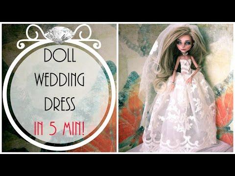 doll-wedding-dress-in-5-min!-/-monster-high-wedding-dress-/-doll-fashion-/-doll-gown-/-bride-dress