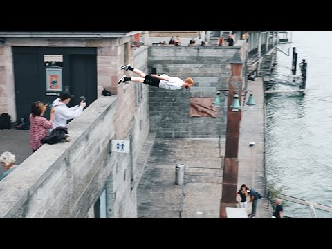 Parkour Diving in Basel, River Rhine 🇨🇭