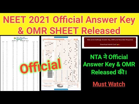 NEET answer keys 2021 released, direct link to view and challenge keys
