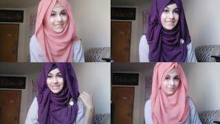 Easy Hijab tutorial with Viscose Georgette ft. Orna Hizab Godown    Noshin Nower ❤