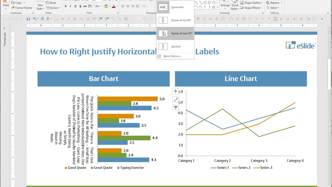 PPT Design Tip: How to Right Justify Horizontal Bar Chart Labels