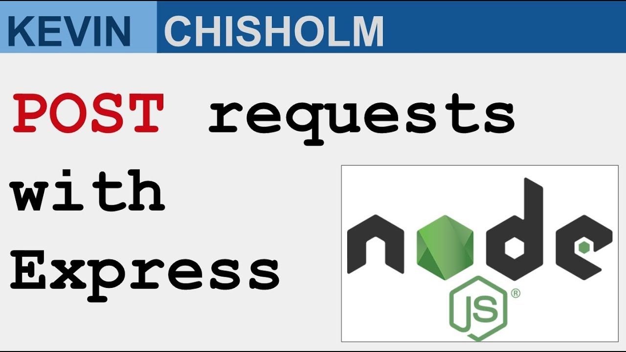 Handling POST requests with Express and Node js