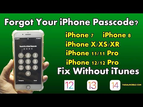 Forgot Your iPhone Passcode? Fix Without iTunes iPhone 8/X/XR/XS 100%
