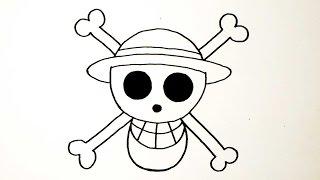 สัญลักษณ์ กลุ่มโจรสลัดหมวกฟาง จาก การ์ตูน วันพีช | วาดการ์ตูน กันเถอะ