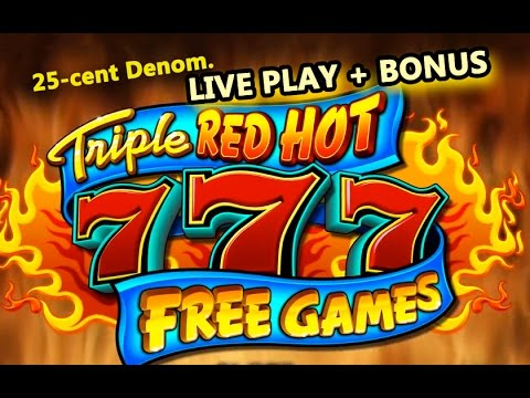 *MAX* TRIPLE RED HOT 777 SLOT **HIGH LIMIT** LIVE PLAY+BONUS - Slot Machine Bonus