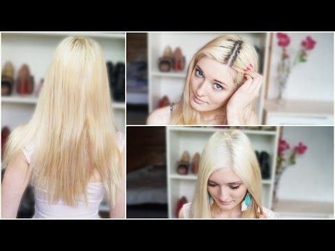 Von braun auf blond färben