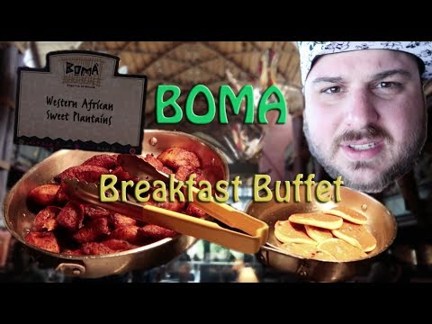 Boma Breakfast Buffet at Animal Kingdom Lodge | Full Food Menu | Animal Observation Area