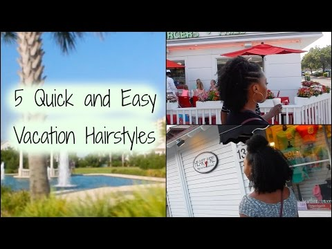 5 QUICK and EASY Vacation Hairstyles on NATURAL HAIR