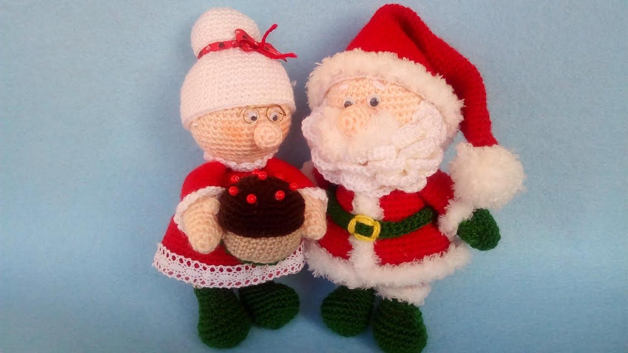 Mrs Santa Claus Amigurumi Crochet Natale Uncinetto Christmas