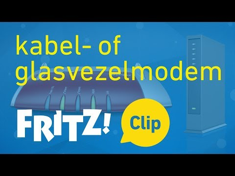 Op internet per kabel- of glasvezelmodem