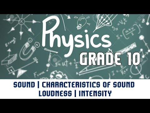 Sound | Characteristics Of Sound | Loudness | Intensity | Part 6