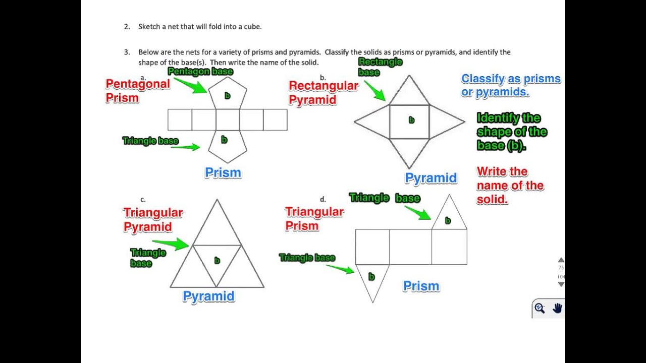 Representing Three Dimensional Figures Using Nets 2