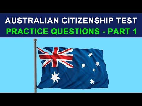 AUSTRALIAN CITIZENSHIP TEST 2020 - PRACTICE QUESTIONS - PART 1