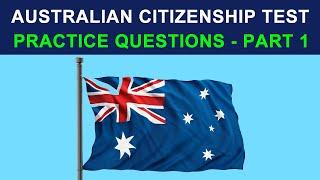 AUSTRALIAN CITIZENSHIP TEST 2018 - PRACTICE QUESTIONS - PART 1