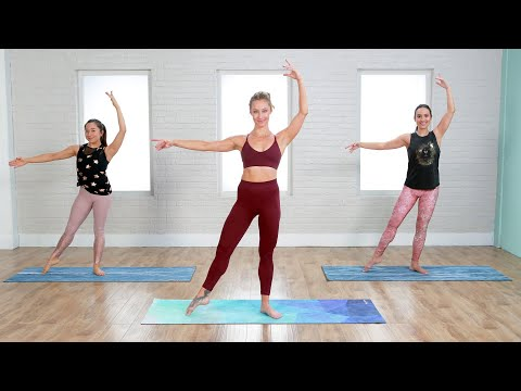 45-Minute No Equipment Barre Workout That Fuses Cardio + Toning