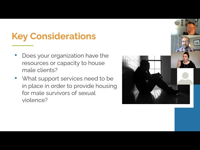 Increasing Access to Emergency Housing for Male Survivors