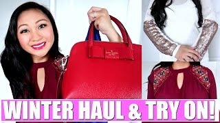 WINTER HAUL & TRY ON! | Target, Pink Blush Maternity, Kate Spade, Knox Rose
